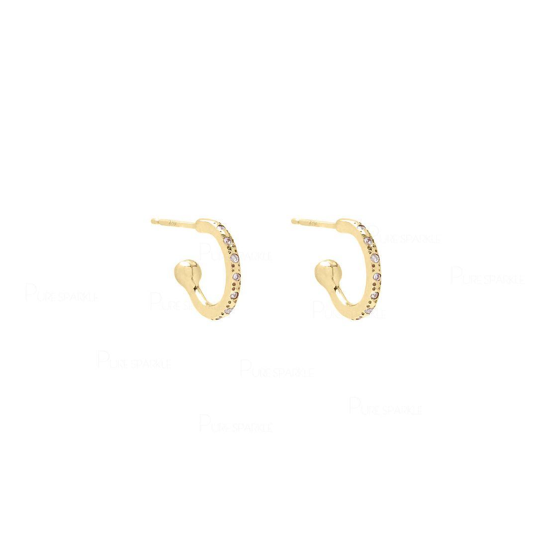 Mini Diamond Hoop | 14k Gold