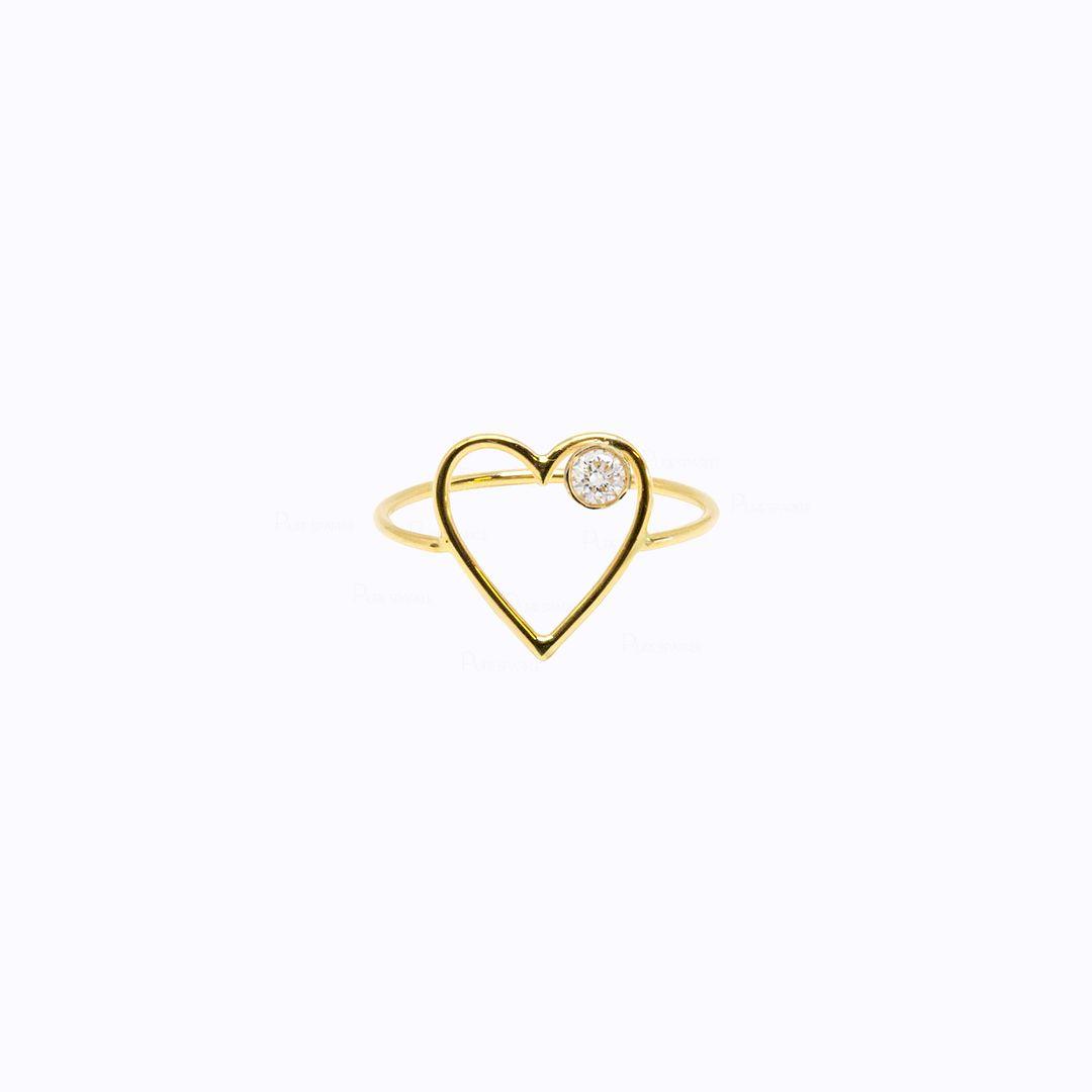 Diamond Heart Ring | 14k Gold