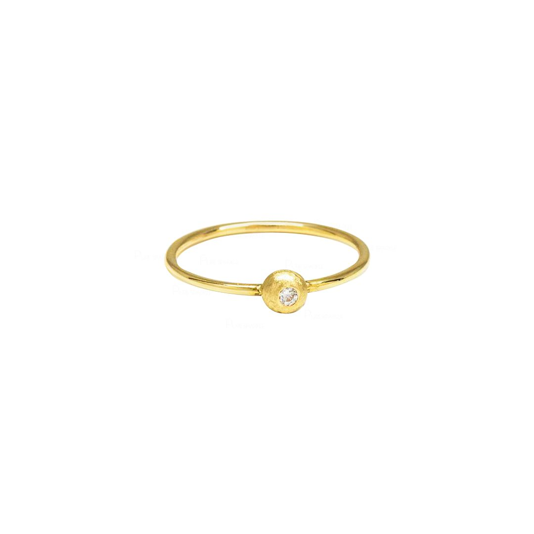 Diamond Dome Ring | 14k Gold